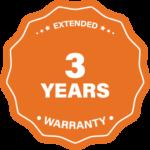 3 years warranty label