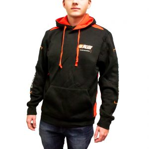 black and orange hoodie