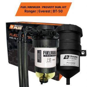 fuel manager pre-filter + provent ranger, everest, bt-50