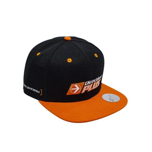 black and orange hat